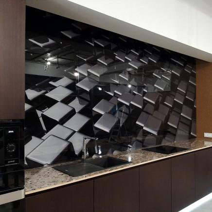 фартух на кухню зі скла фото, скіналі фото, скляний фартух на кухню фото, кухонний фартух фото 9065