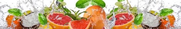 130720201 кухонный фартук Скинали фрукты, фартук для кухни Скинали фрукты, стеклянный фартук Скинали фрукты, фартук на кухню Скинали фрукты