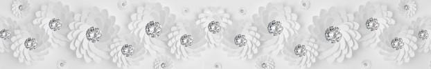2406202022 кухонный фартук Скинали бриллианты, фартук для кухни Скинали бриллианты, стеклянный фартук Скинали бриллианты, фартук на кухню Скинали бриллианты