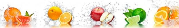 6087 кухонный фартук Скинали фрукты, фартук для кухни Скинали фрукты, стеклянный фартук Скинали фрукты, фартук на кухню Скинали фрукты
