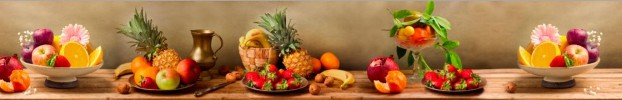301120201 кухонный фартук Скинали фрукты, фартук для кухни Скинали фрукты, стеклянный фартук Скинали фрукты, фартук на кухню Скинали фрукты