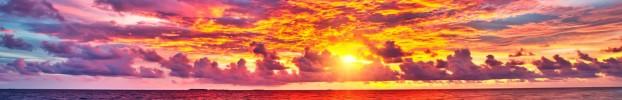 260120201 кухонный фартук Скинали Небо, фартук для кухни Скинали Небо, стеклянный фартук Скинали Небо, фартук на кухню Скинали Небо