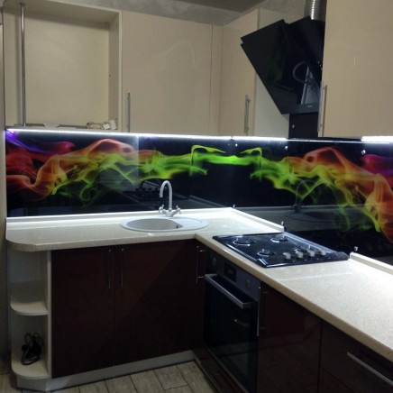 фартух на кухню зі скла фото, скіналі фото, скляний фартух на кухню фото, кухонний фартух фото 16179
