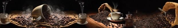 11106 кухонный фартук Скинали Кофе, фартук для кухни Скинали Кофе, стеклянный фартук Скинали Кофе, фартук на кухню Скинали Кофе