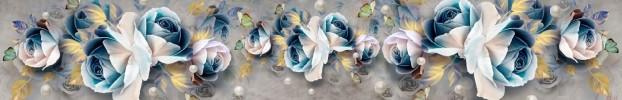 220720213 кухонный фартук Скинали Цветы, фартук для кухни Скинали Цветы, стеклянный фартук Скинали Цветы, фартук на кухню Скинали Цветы