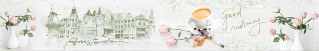 8554 кухонный фартук Скинали Старый город, фартук для кухни Скинали Старый город, стеклянный фартук Скинали Старый город, фартук на кухню Скинали Старый город