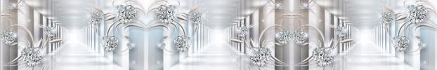 290620204 кухонный фартук Скинали бриллианты, фартук для кухни Скинали бриллианты, стеклянный фартук Скинали бриллианты, фартук на кухню Скинали бриллианты