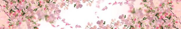1603202125 кухонный фартук Скинали Цветы, фартук для кухни Скинали Цветы, стеклянный фартук Скинали Цветы, фартук на кухню Скинали Цветы