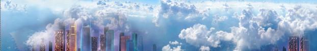 170220208 кухонный фартук Скинали Небо, фартук для кухни Скинали Небо, стеклянный фартук Скинали Небо, фартук на кухню Скинали Небо