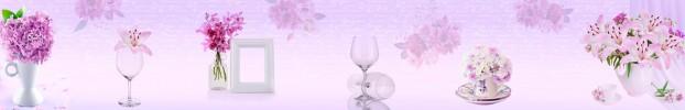 18193 кухонный фартук Скинали Прованс, фартук для кухни Скинали Прованс, стеклянный фартук Скинали Прованс, фартук на кухню Скинали Прованс