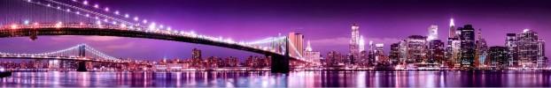 3992 кухонный фартук Скинали бруклинский мост, фартук для кухни Скинали бруклинский мост, стеклянный фартук Скинали бруклинский мост, фартук на кухню Скинали бруклинский мост