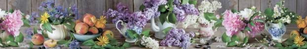 1603202113 кухонный фартук Скинали Цветы, фартук для кухни Скинали Цветы, стеклянный фартук Скинали Цветы, фартук на кухню Скинали Цветы