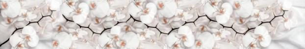 09092021 кухонный фартук Скинали Орхидеи, фартук для кухни Скинали Орхидеи, стеклянный фартук Скинали Орхидеи, фартук на кухню Скинали Орхидеи