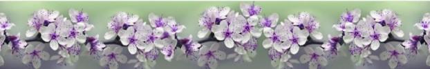 1899 кухонный фартук Скинали Цветы, фартук для кухни Скинали Цветы, стеклянный фартук Скинали Цветы, фартук на кухню Скинали Цветы