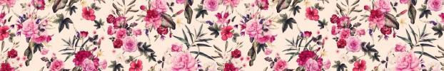 9090720223 кухонный фартук Скинали Цветы, фартук для кухни Скинали Цветы, стеклянный фартук Скинали Цветы, фартук на кухню Скинали Цветы