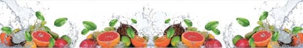 15032020 кухонный фартук Скинали фрукты, фартук для кухни Скинали фрукты, стеклянный фартук Скинали фрукты, фартук на кухню Скинали фрукты