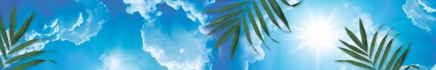 4444 кухонный фартук Скинали Небо, фартук для кухни Скинали Небо, стеклянный фартук Скинали Небо, фартук на кухню Скинали Небо