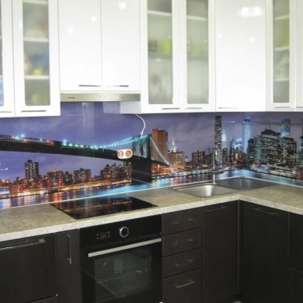 фартух на кухню зі скла фото, скіналі фото, скляний фартух на кухню фото, кухонний фартух фото 16595