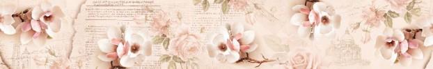 2397 кухонный фартук Скинали Цветы, фартук для кухни Скинали Цветы, стеклянный фартук Скинали Цветы, фартук на кухню Скинали Цветы