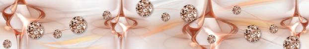 150720213 кухонный фартук Скинали бриллианты, фартук для кухни Скинали бриллианты, стеклянный фартук Скинали бриллианты, фартук на кухню Скинали бриллианты