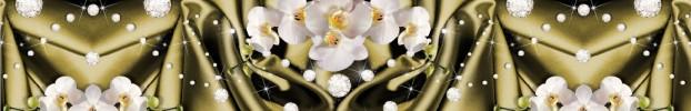 2906202013 кухонный фартук Скинали Орхидеи, фартук для кухни Скинали Орхидеи, стеклянный фартук Скинали Орхидеи, фартук на кухню Скинали Орхидеи