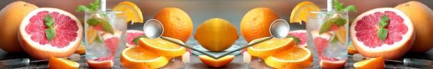 1806202019 кухонный фартук Скинали фрукты, фартук для кухни Скинали фрукты, стеклянный фартук Скинали фрукты, фартук на кухню Скинали фрукты
