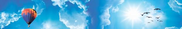 3160819 кухонный фартук Скинали Небо, фартук для кухни Скинали Небо, стеклянный фартук Скинали Небо, фартук на кухню Скинали Небо