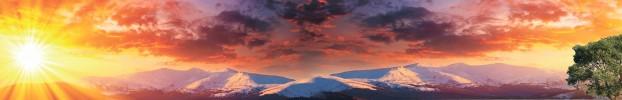 20193 кухонный фартук Скинали Небо, фартук для кухни Скинали Небо, стеклянный фартук Скинали Небо, фартук на кухню Скинали Небо